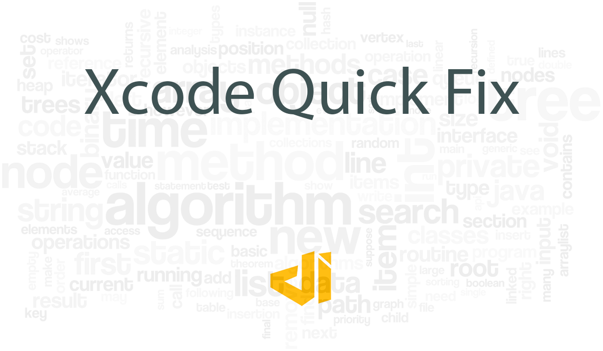 Xcode Quick Fix - Clear Cache