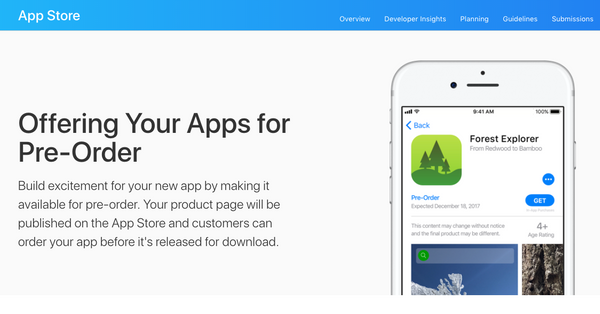 How to make your new apps available for pre-order on the App Store on all Apple Platforms