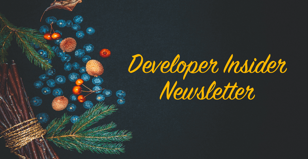 Developer Insider Newsletter - December 2020