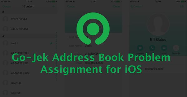 GoJek Address Book Problem Assignment for iOS