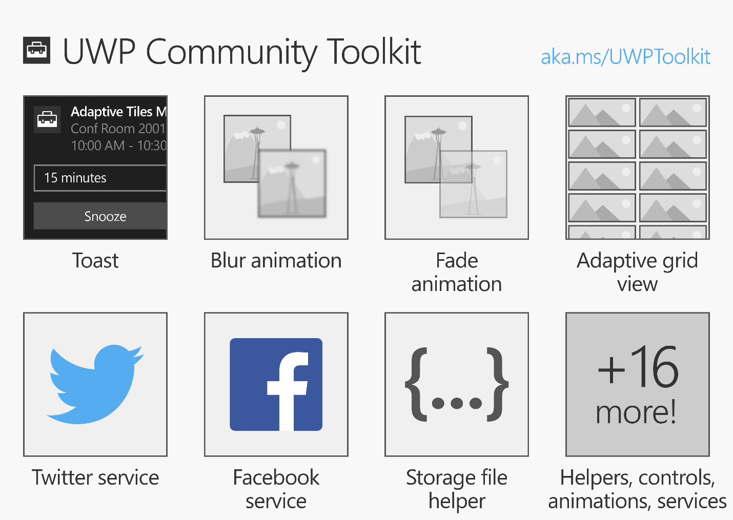 Microsoft just released UWP Community Toolkit - Collection of helper functions, custom controls, and app services