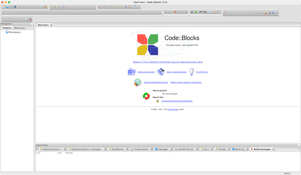 Download and Install Code Blocks  C and C++ IDE on macOS